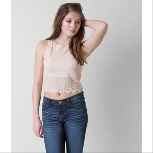 Intimately Free People Lace Cropped Tank Top M